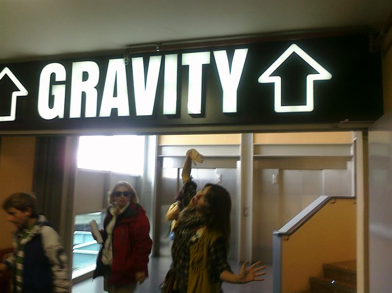 Margaret is required to hold gravity up.