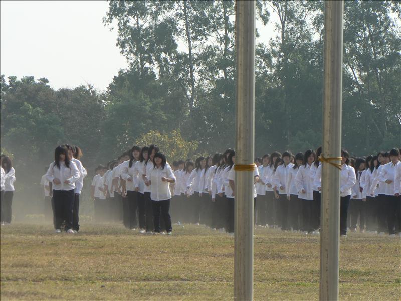 高中職跳健康操的壯觀