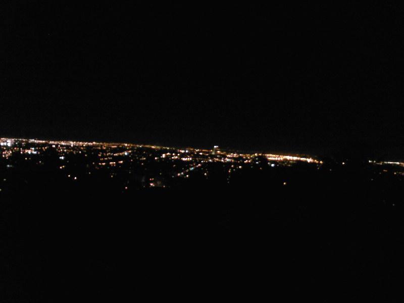 vrijdagavond twee uur snachts uitzicht vanaf de berg