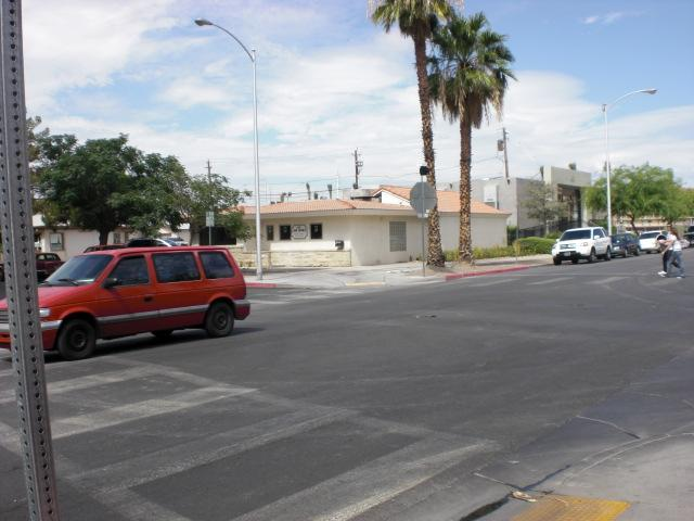 Another street view of Vegas Weddings chapel