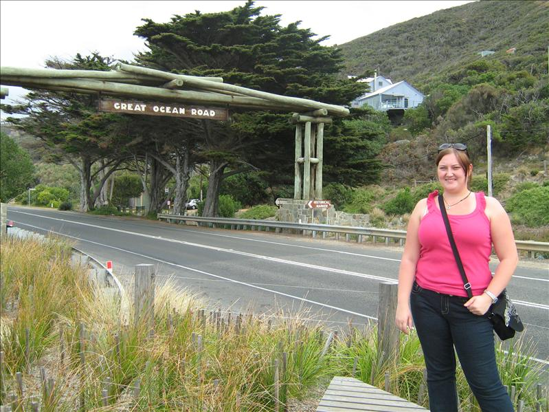 Me and Great Ocean Road Sign