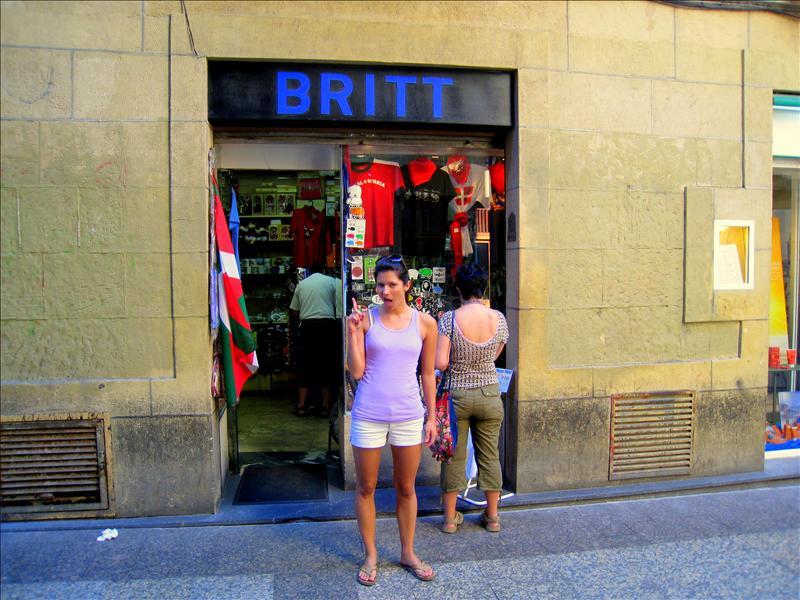 A Britt sign!