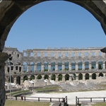 Amphitheatre at Pula ....