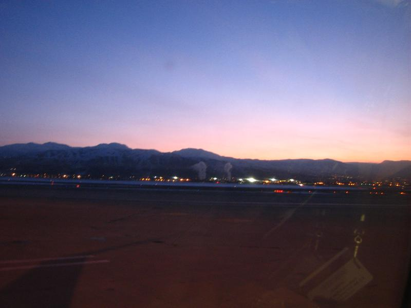 Sunrise at SLC, waiting to head back