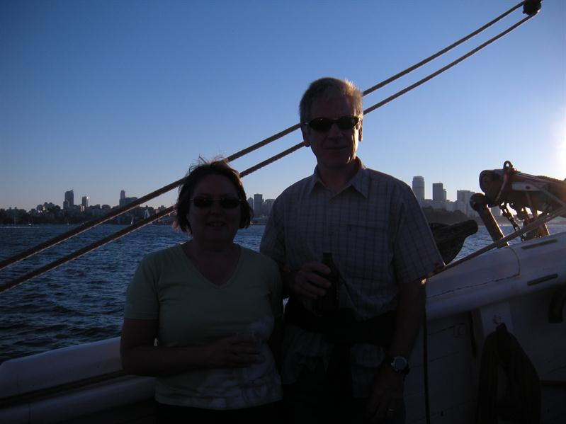 Pete and I on the Southern Swan