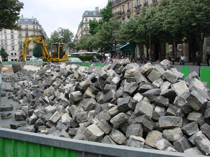 Cobble stones on my street
