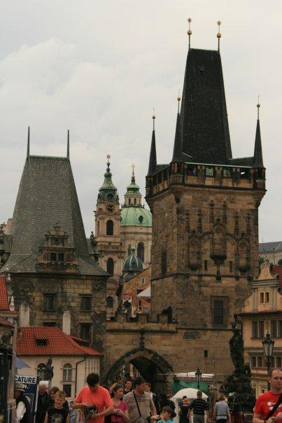 Along the famed Charles Bridge