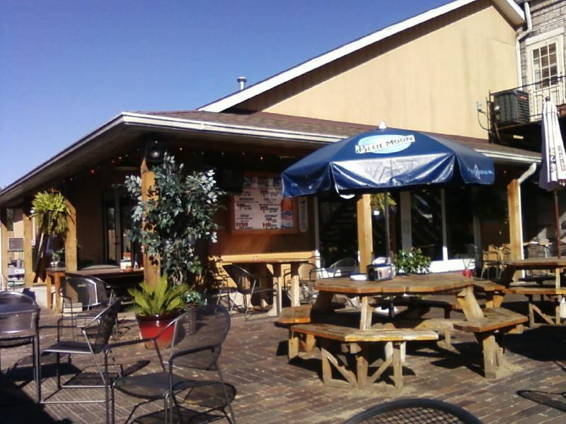 a view from the patio area toward the restaurant