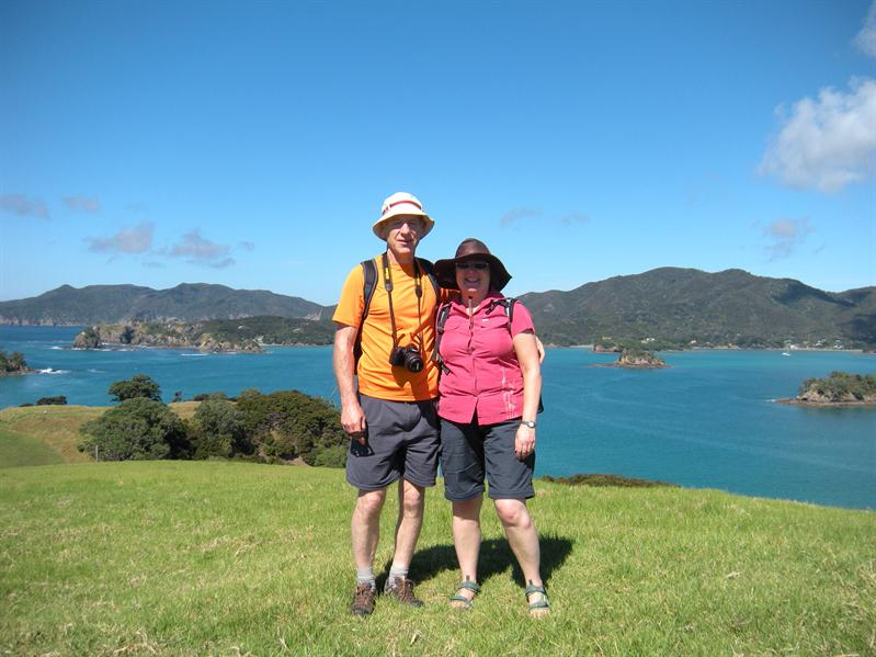 Pete and I on one of theislands we stopped at