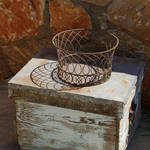 old beehive box and ornate basket