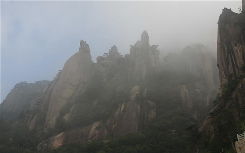 三清山,(Three Green Mountain), ShangLao, JiangXi, China