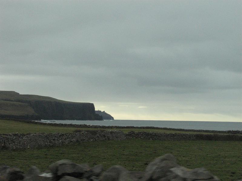 Looking back at the Cliffs of Moher
