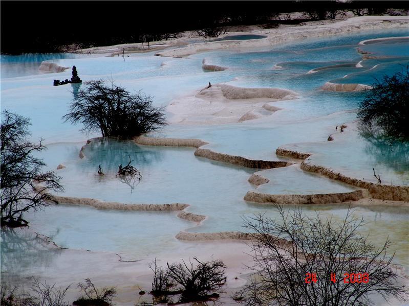 黄龙五彩池、四川