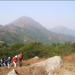 With Lantau Peak behind