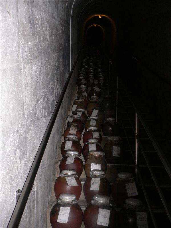 玉泉洞內利用避難口的通道來藏酒
