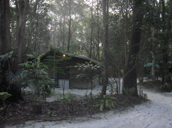 Yikes, our bush camp accommodation - at least they werent tents!