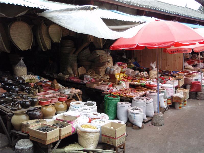 market, Lijiang