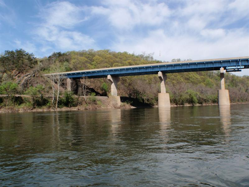 Downstream, Quarter Mile Bridge