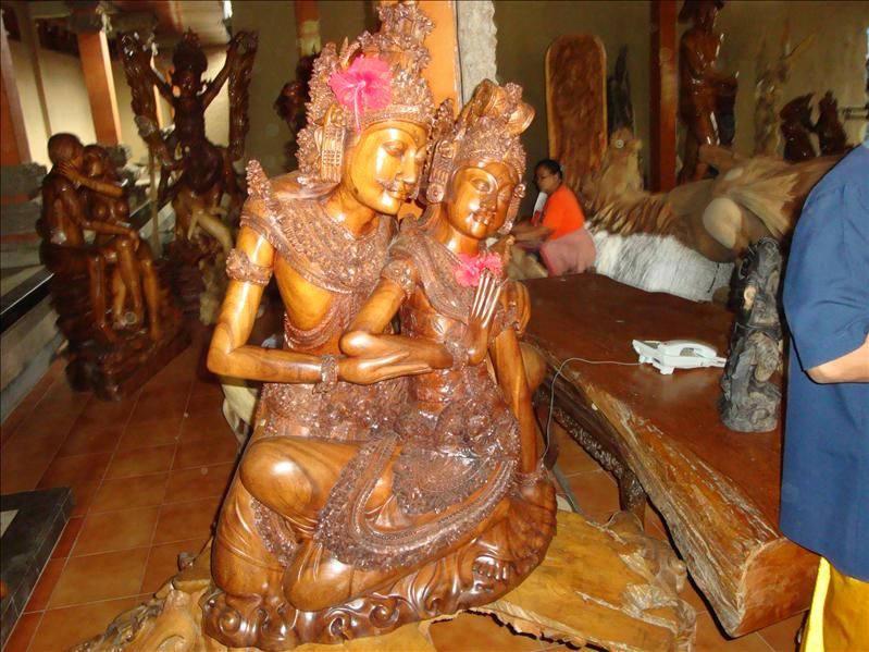 wood hand made bali