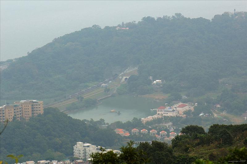 下望大埔滘互動自然中心 (小白鷺) Tai Po Kau Interactive Nature Centre
