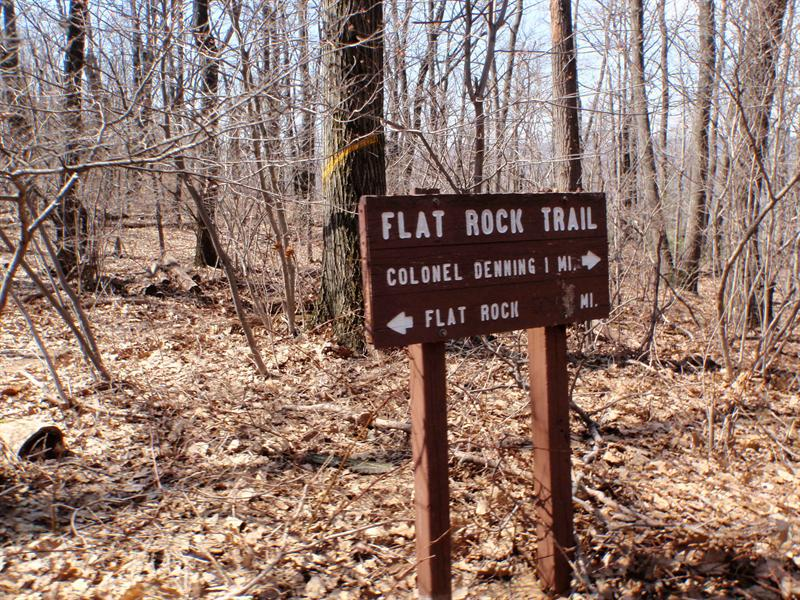 Flat Rock trail sign
