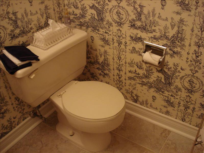 Washroom in wedding reception place.