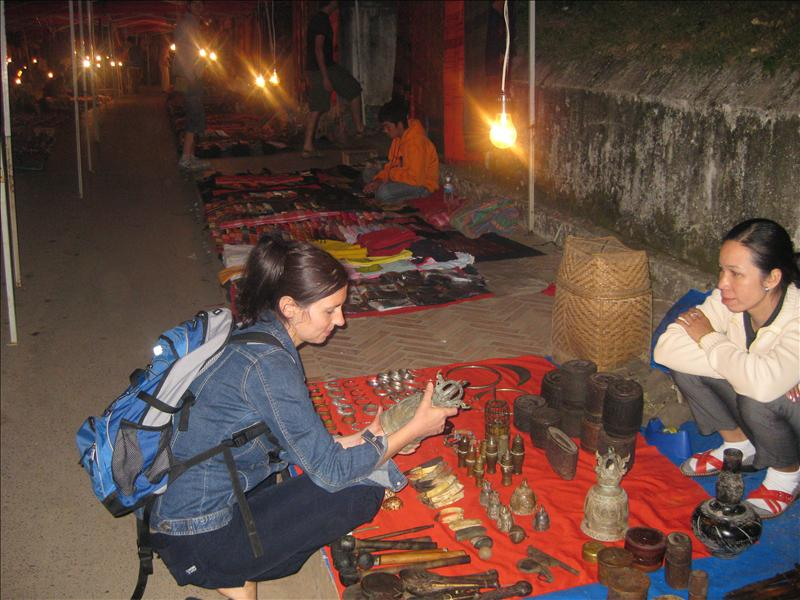 Grit at the Night Bazar in Luang Prabang