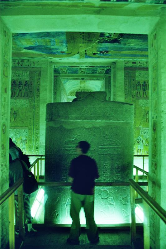 inside one of the tombs, Valley of the Kings