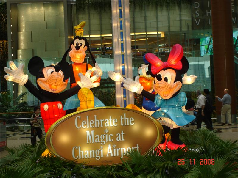 Mickey mouse family at Changi airport