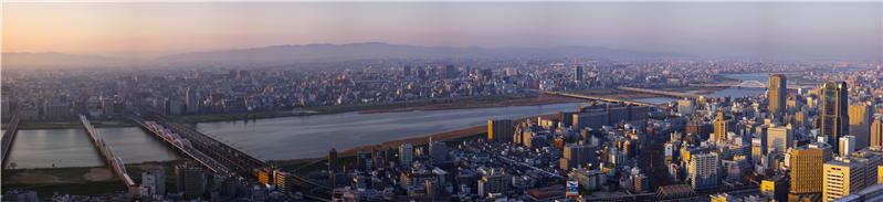 North part of Osaka viewed from Shin-Umeda Sky Building