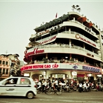 restaurant and cafe at Hanoi