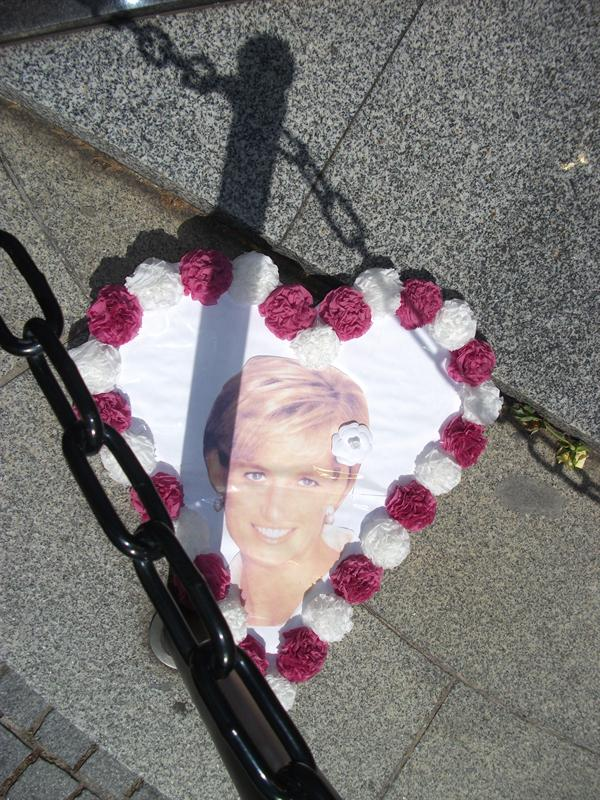 Princess Diana Memorial. Standing above the tunnel where she died,
