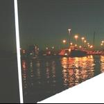 Barge at Night