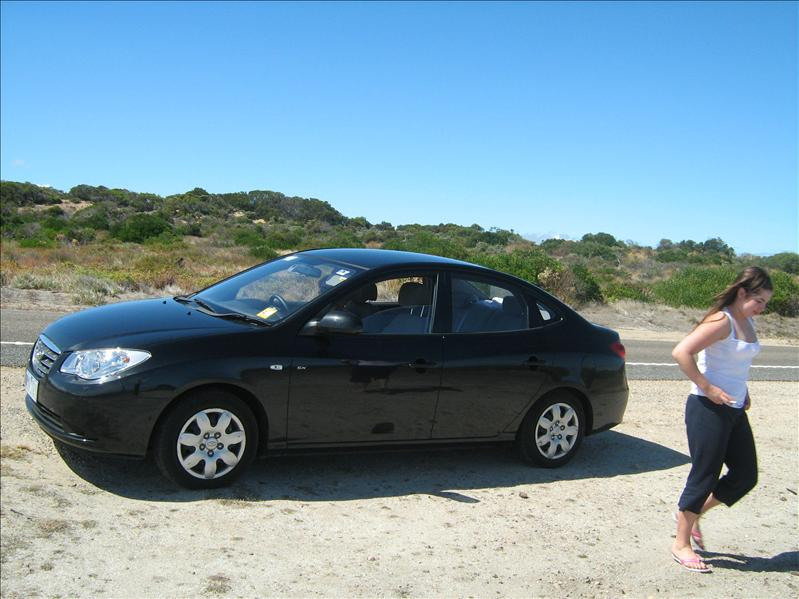 Maria and our car