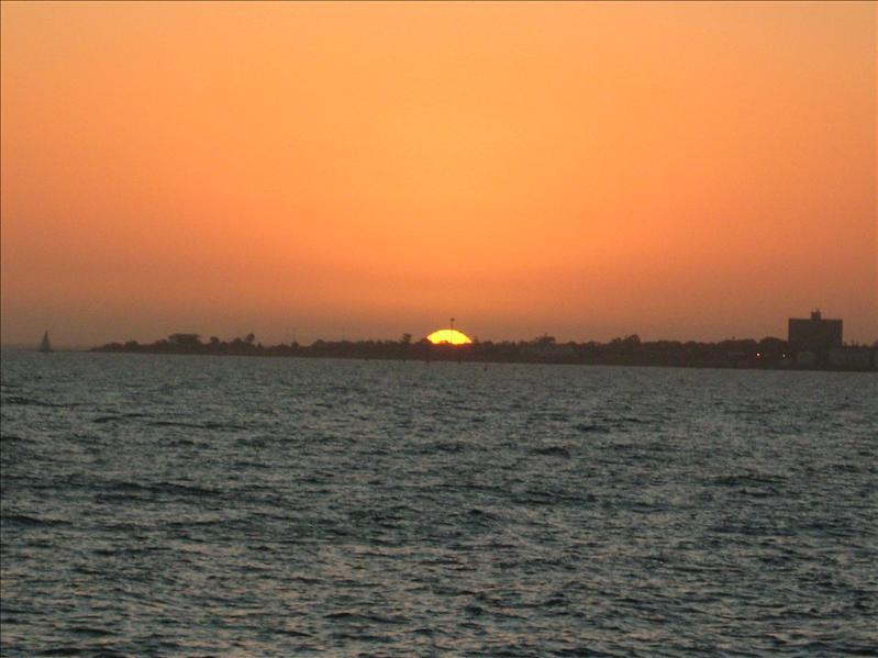 Pretty Sunset on St Kilda Beach