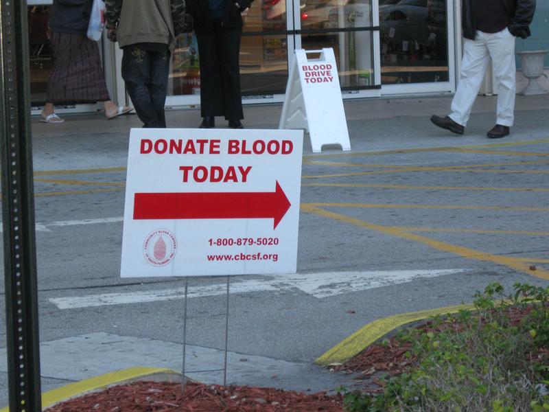 North Miami, donate blood...