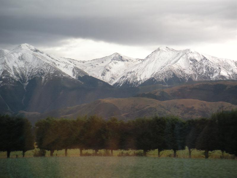 Snow on the Mountains from the Tranzalpine