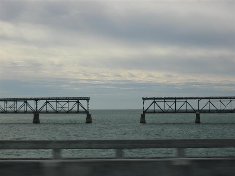 Bridge struck by horricane, Key West