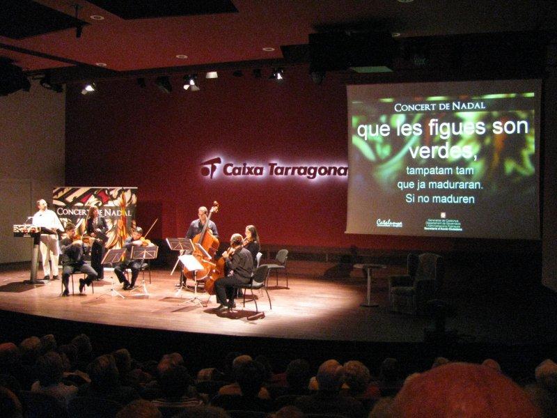Christmas concert at Tarragona.