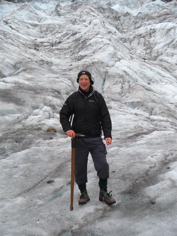 Pete on the glacier