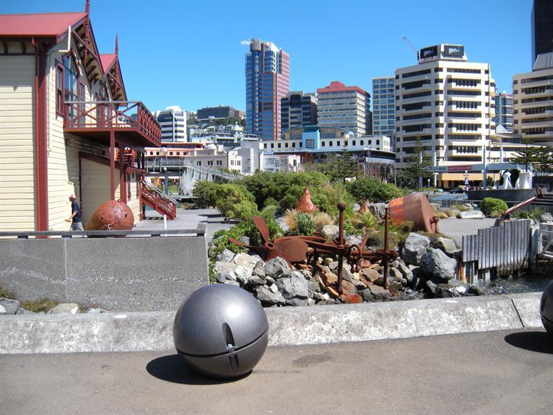 Along the Wellington Wharf