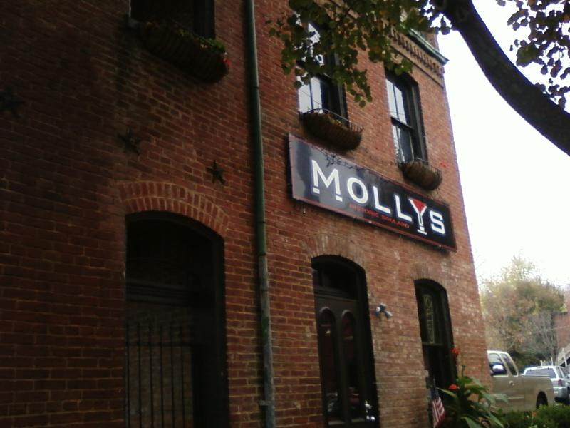 Molly's bar entrance has food too