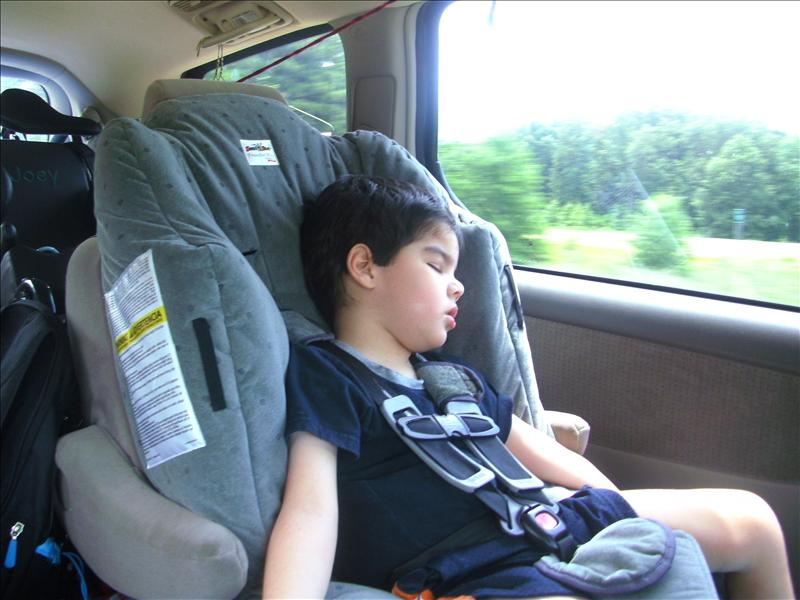 Being a backseat passenger is exhausting!