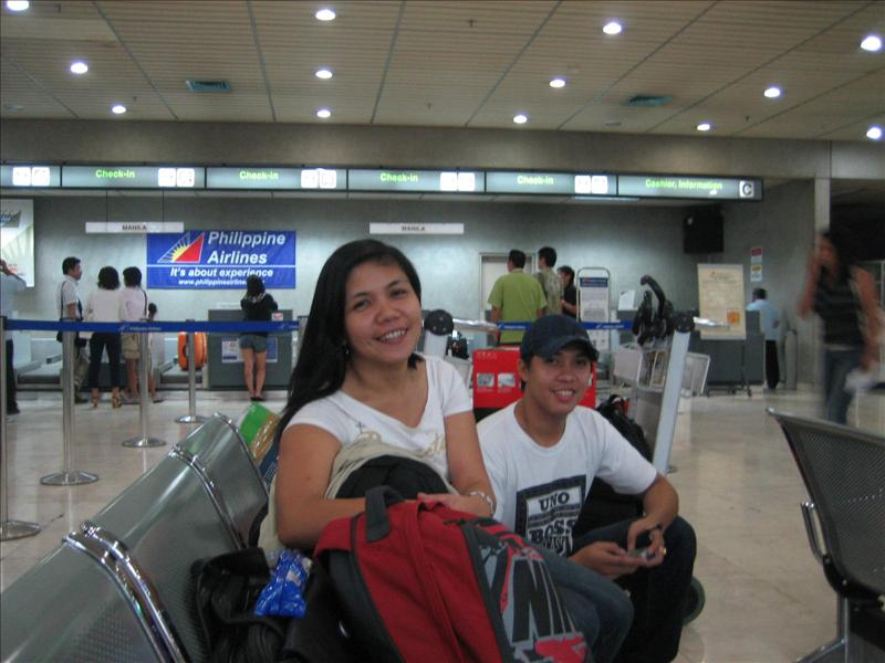 Getting Ready for the Flight to Manila with Onin