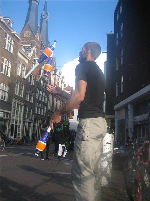 Our juggling spot in Amsterdam