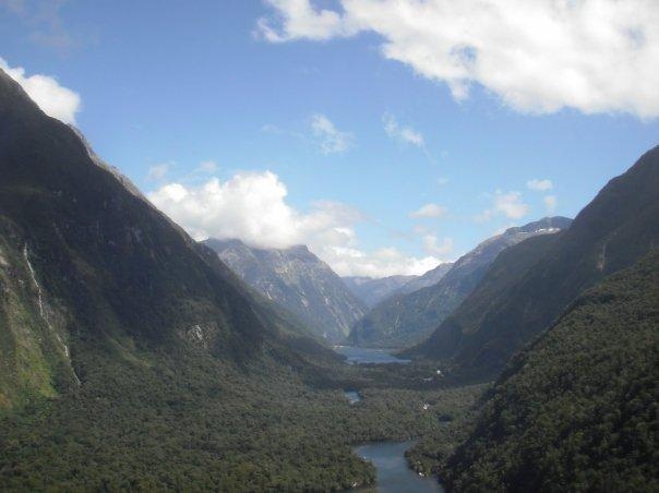 The views of Milford Sound from plane