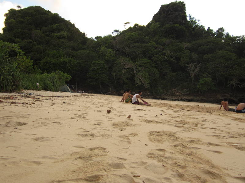 on the beach, Sempu Beach