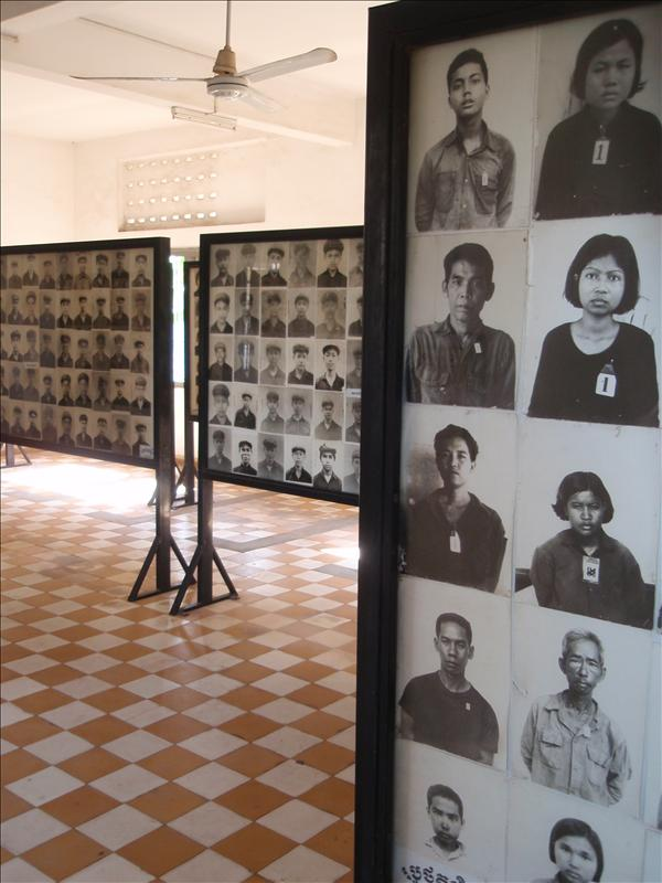 Gallery of victims at S-21 Tuel Sleng prison