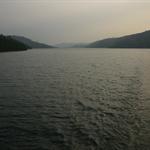 Lake Volta - Abendstimmung auf der Faehre