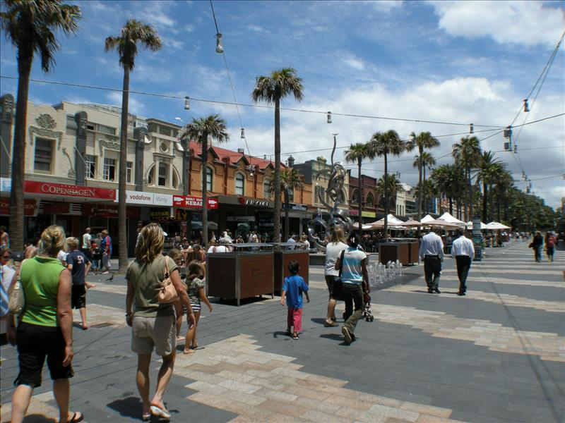 Pedestrian street in Manly